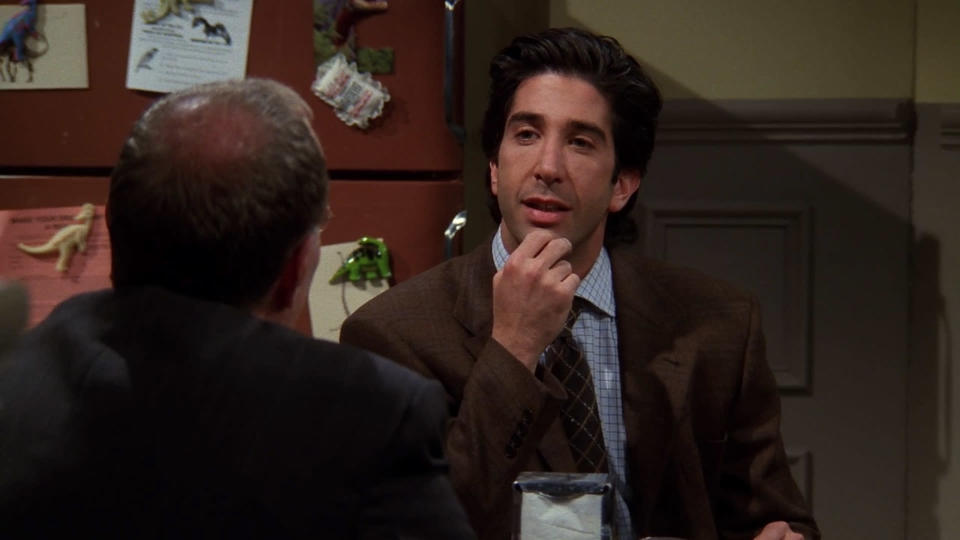 <p> Perhaps it&#x2019;s cruel to laugh at the mental breakdown of one of the show&#x2019;s core characters. Perhaps. All we know that it&#x2019;s also hilarious to see Ross lose it when one of his coworkers accidentally steals his sandwich (it&#x2019;s actually his boss), and all his pent up anger about his divorce with Rachel / his eviction come spilling out. The ending, where Joey covers for the Monica and Chandler&#x2019;s secret relationship to avoid inciting Ross&#x2019; rage (and to stop everyone else finding out) - painting himself as a sex addict - is brilliant. </p> <p> <strong>Best line:</strong>&#xA0;Phoebe: Alright, wait! Just wait. Everybody just calm down. Okay? Let&apos;s give our friend Joey a chance to explain why he&apos;s such a big pervert! </p>