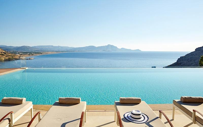Station yourself poolside at Lindos Blu to drink in the views and soak up the sun
