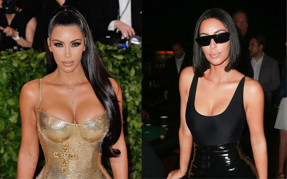 <p><strong>When:</strong> 29 July 2018<br>Kim Kardashian is renowned for her poker straight locks but when the reality television star revealed her 'mum' bob via Snapchat – fans couldn't get enough. Hands up, who else is tempted to take a snap of the hairdresser's? <em>[Photo: Getty]</em> </p>