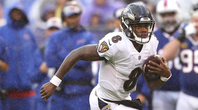 Lamar Jackson's first appearance in the Ravens offense on Sunday was at wide receiver—kind of.