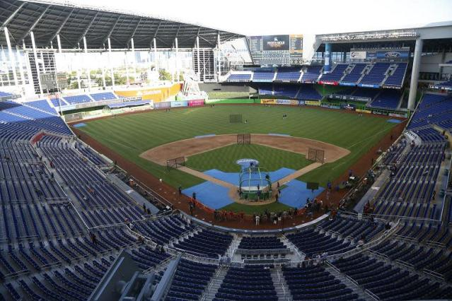 Marlins Park was the scene of an epic marriage proposal. (AP)