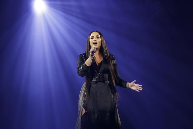Demi Lovato performing in Barcelona this month (Photo: Getty Images)
