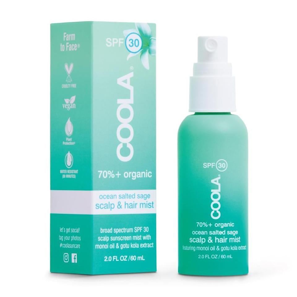 """<p>""""I prefer powder sunblock for hair and scalp, whereas some prefer a stick or balm for the hairline or a spray mist such as the <span>Coola Scalp &amp; Hair Mist Organic Sunscreen SPF 30</span> ($26),"""" Dr. Halim said. It also contains anti-frizz smoothing oils and is water-resistant for up to 80 minutes.</p>"""