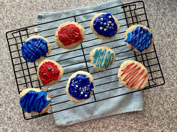 I decorated my rolled butter cookies with icing and sprinkles. (Terri Peters)