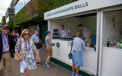 Wimbledon has been selling used balls for years... but in 2019 has gone green - Credit: Paul Grover