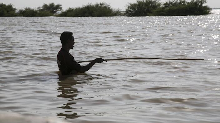 On Tuesday people in Sudan's capital Khartoum continue to struggle with floods...