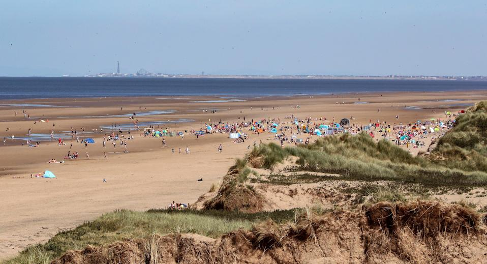 <p>Formby beach in Merseyside</p> (PA Archive)