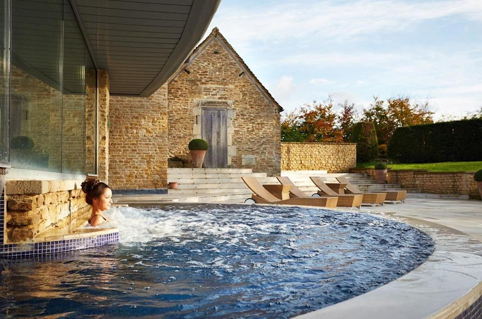 """<p>Like your luxury spa hotel served up with a two Michelin-starred restaurant? Honey-hued Whatley Manor has that experience covered.</p><p>Immerse yourself in the indoor/outdoor hydrotherapy pool, before reclining on a heated stone lounger. Enjoy a treatment and complete tranquility, all the while looking forward to a veritable feast in The Dining Room in the evening. Afternoon tea, with its fluffy scones and moreish cakes, is also sublime.</p><p><strong>Covid-19 update</strong>: Hotel guests can enjoy the spa from 1pm on their arrival day up to 1pm on the day of departure. Most spa facilities remain available, but the thermal suite, sauna and steam room are closed.</p><p><a href=""""https://www.redescapes.com/offers/cotswolds-malmesbury-whatley-manor-hotel"""" rel=""""nofollow noopener"""" target=""""_blank"""" data-ylk=""""slk:Read our review of Whatley Manor."""" class=""""link rapid-noclick-resp"""">Read our review of Whatley Manor.</a></p><p><a class=""""link rapid-noclick-resp"""" href=""""https://go.redirectingat.com?id=127X1599956&url=https%3A%2F%2Fwww.booking.com%2Fhotel%2Fgb%2Fwhatley-manor.en-gb.html%3Faid%3D2070929%26label%3Dluxury-spa-hotels-uk&sref=https%3A%2F%2Fwww.redonline.co.uk%2Ftravel%2Finspiration%2Fg34573730%2Fluxury-spa-hotels-uk%2F"""" rel=""""nofollow noopener"""" target=""""_blank"""" data-ylk=""""slk:CHECK AVAILABILITY"""">CHECK AVAILABILITY</a></p>"""