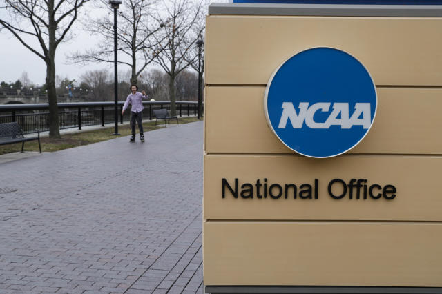 The NCAA will permit college athletes to wear patches on their uniforms that promote and support social justice causes. (AP Photo/Michael Conroy)