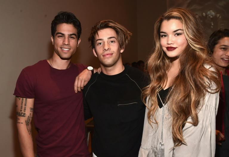 Bennett, center, shown here with actors Luke Ballan and Paris Berelc in 2016, was two months past his 17th birthday at the time of the alleged encounter