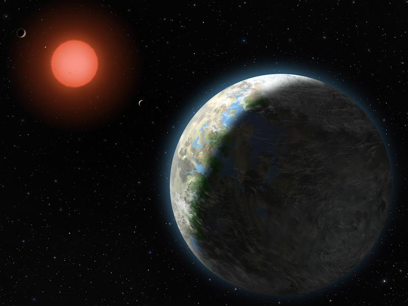 Scholz's star, seen in this artist's impression released by NASA, is now 20 light years away