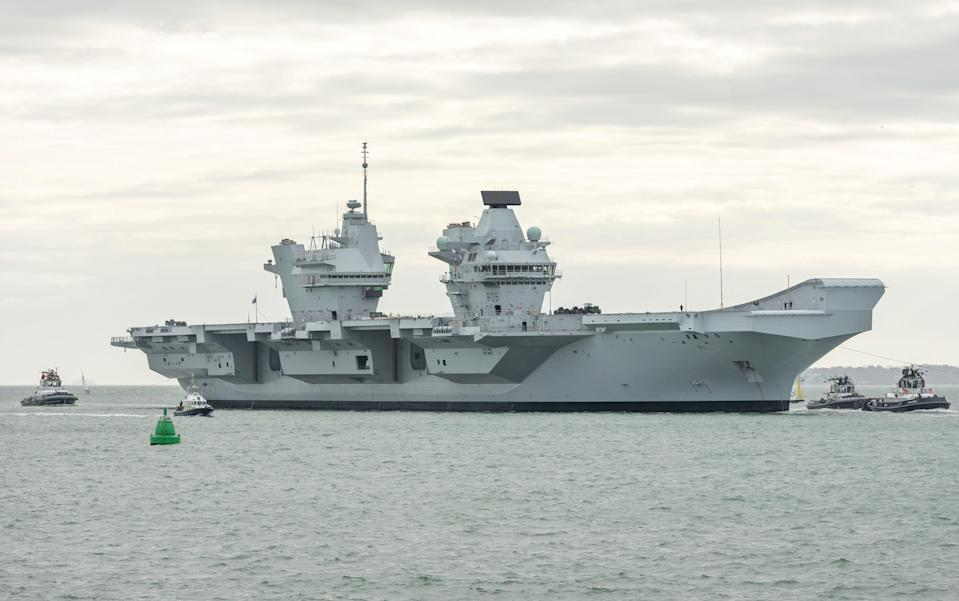 HMS Queen Elizabeth is now the UK's largest warship. (SWNS)