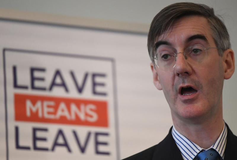 Supporters such as Dominic Raab, Priti Patel and Jacob Rees-Mogg (above) had not even been involved with the ERG before the shock Leave vote: PA