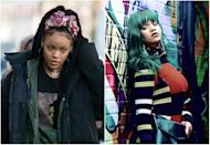 """<p><b>When: February 2017 </b><br>Rihanna has never been afraid to push the style boundaries, especially when it comes to her her tresses. Lately she's been spotted on set of """"Ocean's Eight"""" rocking some seriously sexy dreads, but New-York based stylist Faren Fucci recently shared some behind the scenes outtakes from a photo shoot with the Bajan goddess. In one shot, Rihanna is slaying it against a wall in a fitted bodycon with long green hair. Anyone green with envy over how hot she looks? <i> (Photos: Getty (Dec. 2016)/ Instagram Feb. 2017)</i> </p>"""