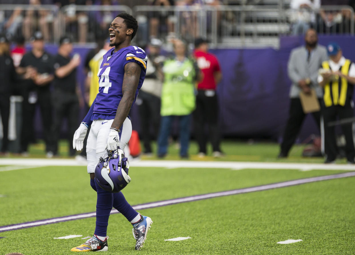 Stefon Diggs didn't deny he wants to be traded. (Getty Images)