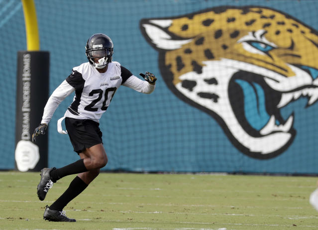 "<a class=""link rapid-noclick-resp"" href=""/nfl/players/29239/"" data-ylk=""slk:Jalen Ramsey"">Jalen Ramsey</a> will miss a week of preseason football. (AP Photo)"