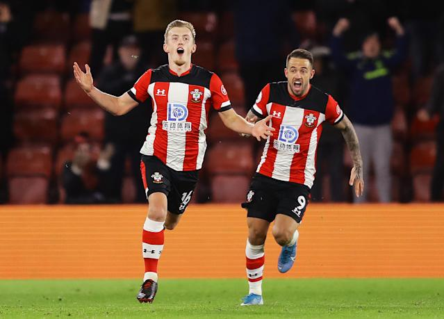 James Ward-Prowse and Danny Ings inspired Southampton to a remarkable victory. (Photo by Richard Heathcote/Getty Images)