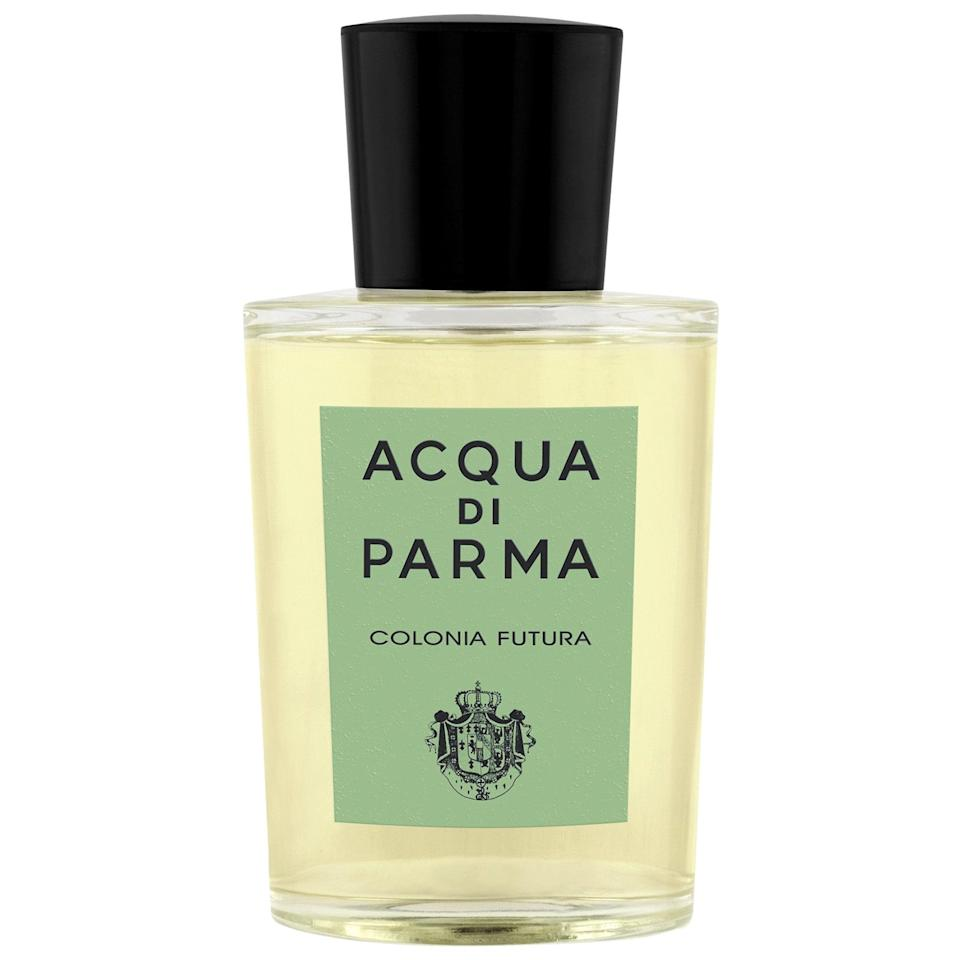 <p>The fresh and citrusy <span>Acqua di Parma Colonia Futura Eau de Cologne</span> ($66-$170) has plant-forward notes coming from clary sage, pink pepper, lavender, and bergamot, too. </p>