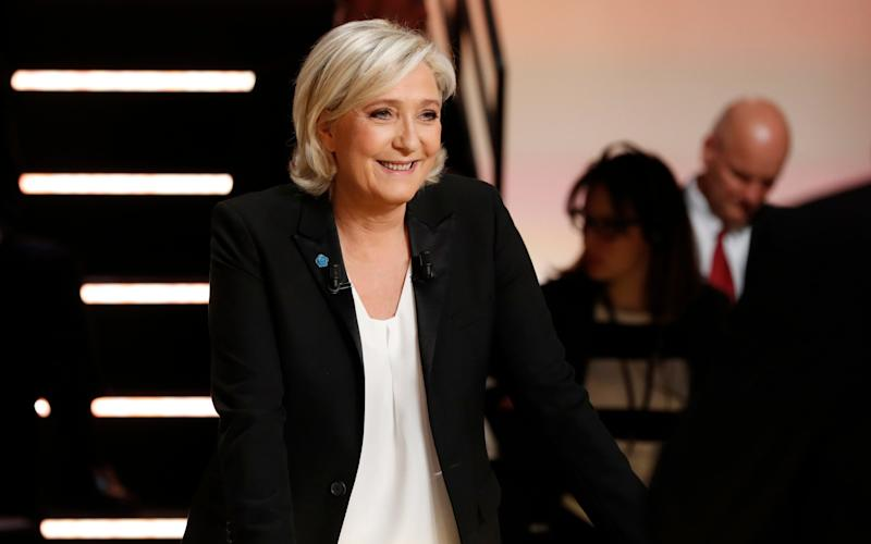 Marine Le Pen was accused of being a