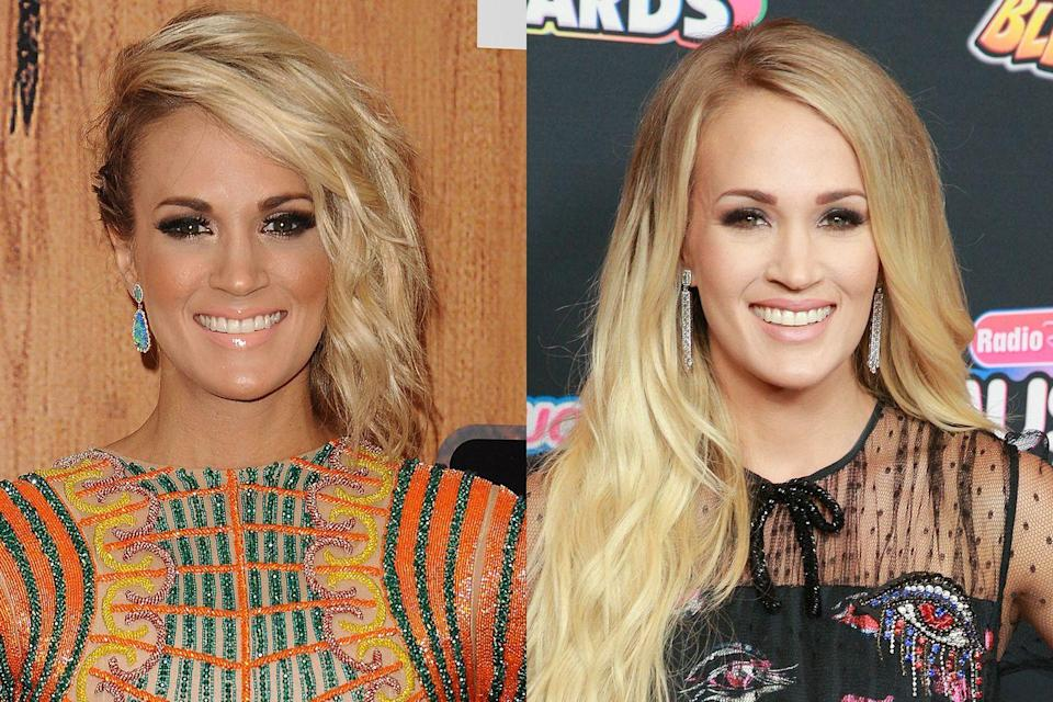 <p>The <em>American Idol </em>alum and country music superstar still loves her blonde hair and smokey eyes, but she's noticeably toned down her tanning over the years, which we thinks makes her look young and fresh-faced. </p>