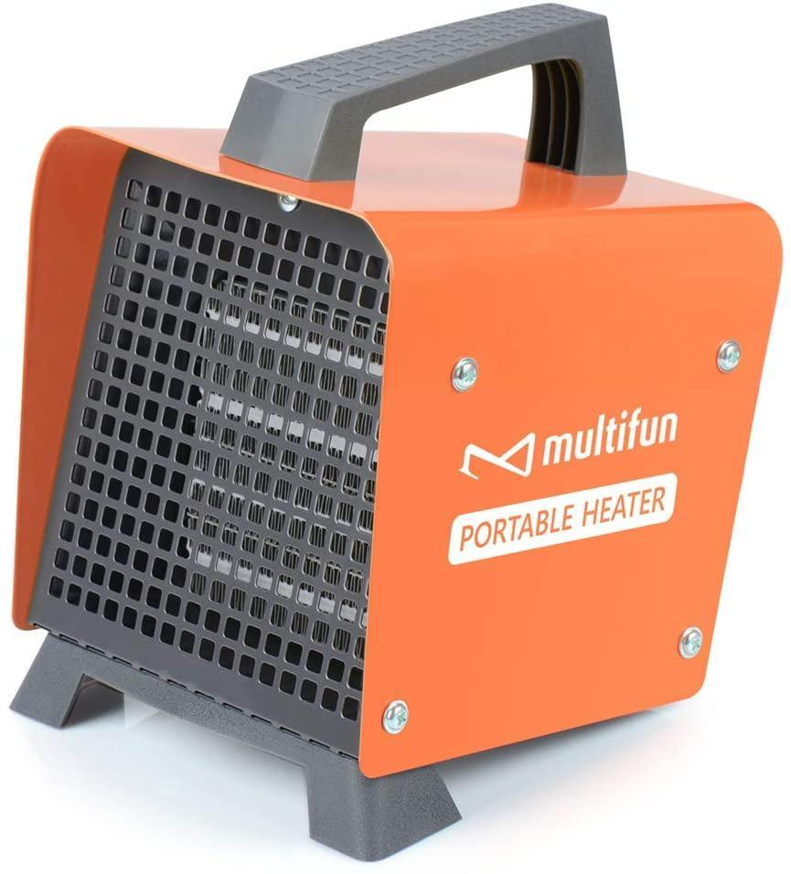 """<h2>Multifun Electric Portable Ceramic Space Heater</h2><br>This fun little box isn't a vintage television. The Multifun Heater creates a warm, cozy environment no matter the location or weather. The top handle is designed for easy lifting and movement. <br><br><strong>The Hype:</strong> 4.3 out of 5 stars and 1,389 reviews on <a href=""""https://www.amazon.com/Electric-Adjustable-Thermostat-Protection-Certified/dp/B07F6C38QG"""" rel=""""nofollow noopener"""" target=""""_blank"""" data-ylk=""""slk:Amazon"""" class=""""link rapid-noclick-resp"""">Amazon</a><br><br><strong>Heat Finders Say:</strong> """"I live in a century-old barn of a house - no insulation, so I have used lots of space heaters over the years. This one puts out more heat than anything I've ever had."""" –<em> J. Peterson, Amazon reviewer </em><br><br><strong>Multifun</strong> Electric Portable Ceramic Space Heater, $, available at <a href=""""https://www.amazon.com/Electric-Adjustable-Thermostat-Protection-Certified/dp/B07F6C38QG"""" rel=""""nofollow noopener"""" target=""""_blank"""" data-ylk=""""slk:Amazon"""" class=""""link rapid-noclick-resp"""">Amazon</a>"""