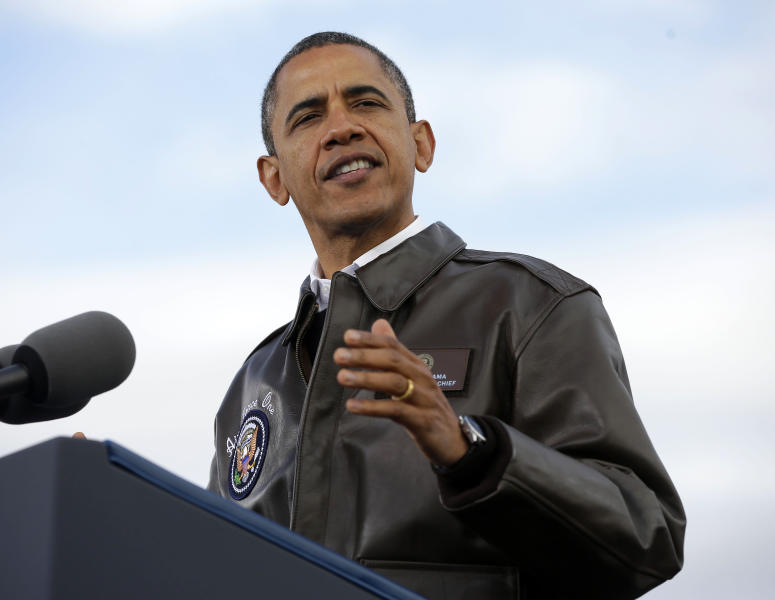 FILE - In this Nov. 1, 2012 file photo, President Barack Obama gestures while speaking at a campaign event at Austin Straubel International Airport in Green Bay, Wis. And now, to conclude, a few parting misstatements. Come Wednesday, or sometime after if the election result is still in the balance, only one man will be left standing and the loser's inventory of misleading claims, out-of-context assertions and warped-reality advertising will fade into some inglorious corner of history. But we're not quite done with them yet. (AP Photo/Pablo Martinez Monsivais, File)