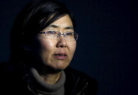 File photo of Wang Yu talking during an interview with Reuters in Beijing