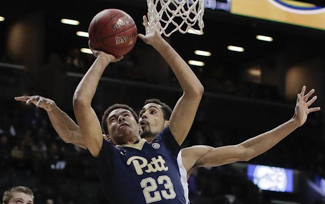 "Pittsburgh is restricting <a class=""link rapid-noclick-resp"" href=""/ncaaf/players/269335/"" data-ylk=""slk:Cameron Johnson"">Cameron Johnson</a> from transferring to an ACC school. (AP)"