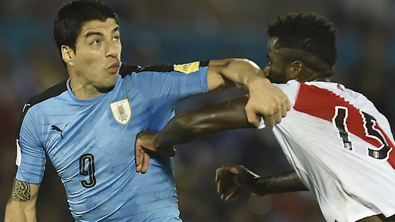 Suarez Uruguay v Peru Eliminatorias WC Qualifying South America 2018 29032016