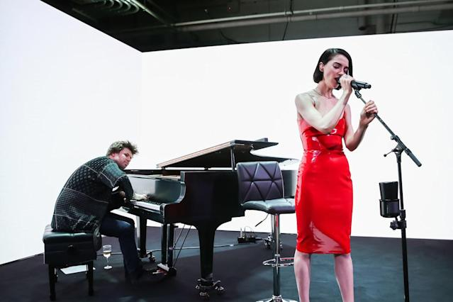 <p>St. Vincent at the Tiffany & Co. fragrance launch party. (Photo: BFA) </p>
