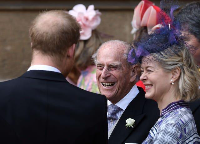 Philip and Harry at Lady Gabriella's wedding