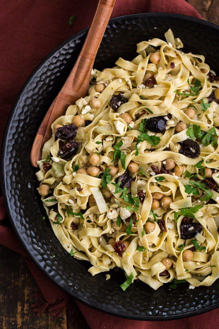 "<strong>Get the <a href=""http://naturallyella.com/mediterranean-einkorn-pasta/"">Mediterranean Einkorn Pasta recipe</a>&nbsp;from Naturally Ella</strong>"