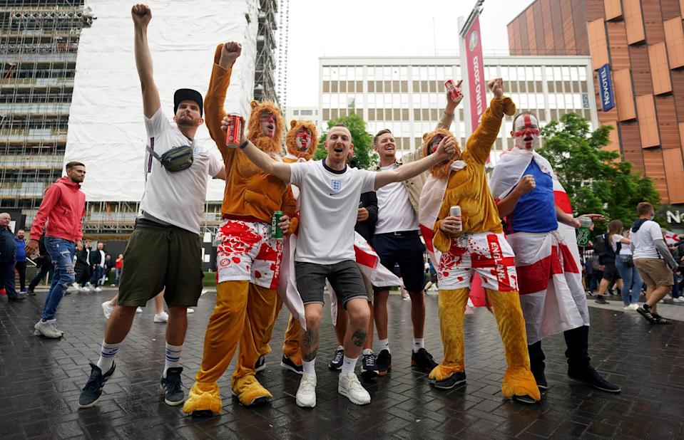 Fans ahead of  England v Germany (PA Wire)