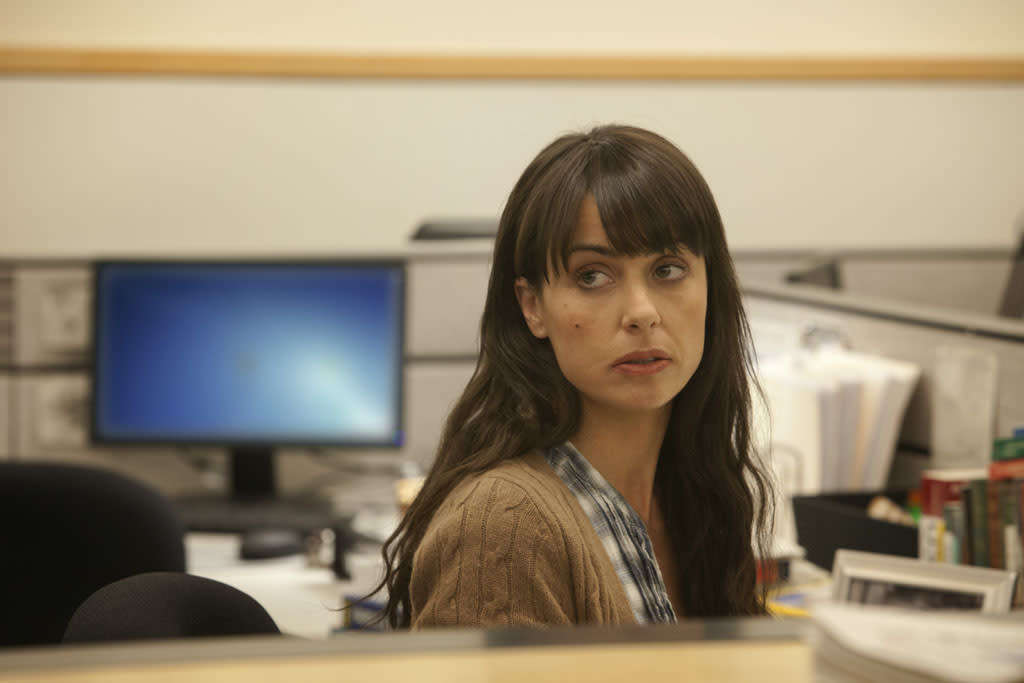 "Constance Zimmer in the ""House of Cards"" Season 1 episode, ""Chapter 1."""