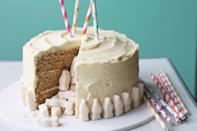 "Fill the center of this cake with malt chocolate eggs or another Easter candy for a fun effect when people start slicing in at the dessert table. <a href=""https://www.epicurious.com/recipes/food/views/malted-milk-pinata-cake?mbid=synd_yahoo_rss"" rel=""nofollow noopener"" target=""_blank"" data-ylk=""slk:See recipe."" class=""link rapid-noclick-resp"">See recipe.</a>"
