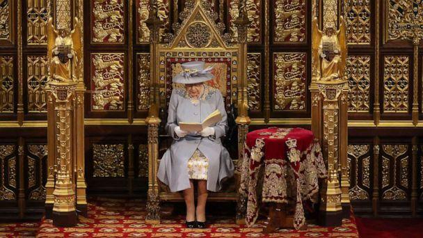PHOTO: Queen Elizabeth II delivers the Queen's Speech in the House of Lord's Chamber during the State Opening of Parliament at the House of Lords on May 11, 2021, in London. (Chris Jackson/Getty Images)
