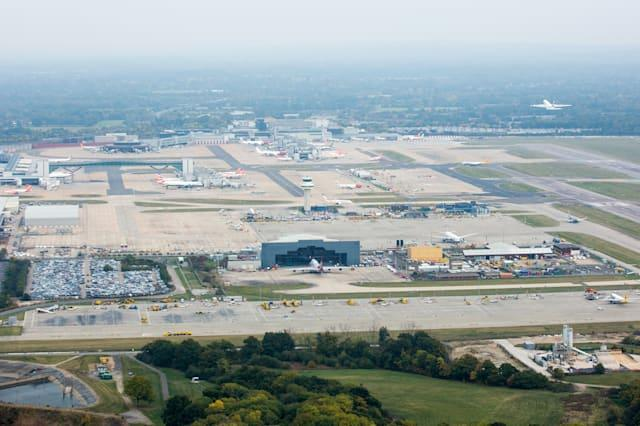 London Gatwick Airport Aerials Ahead Of Government Decision On London Airport Expansion