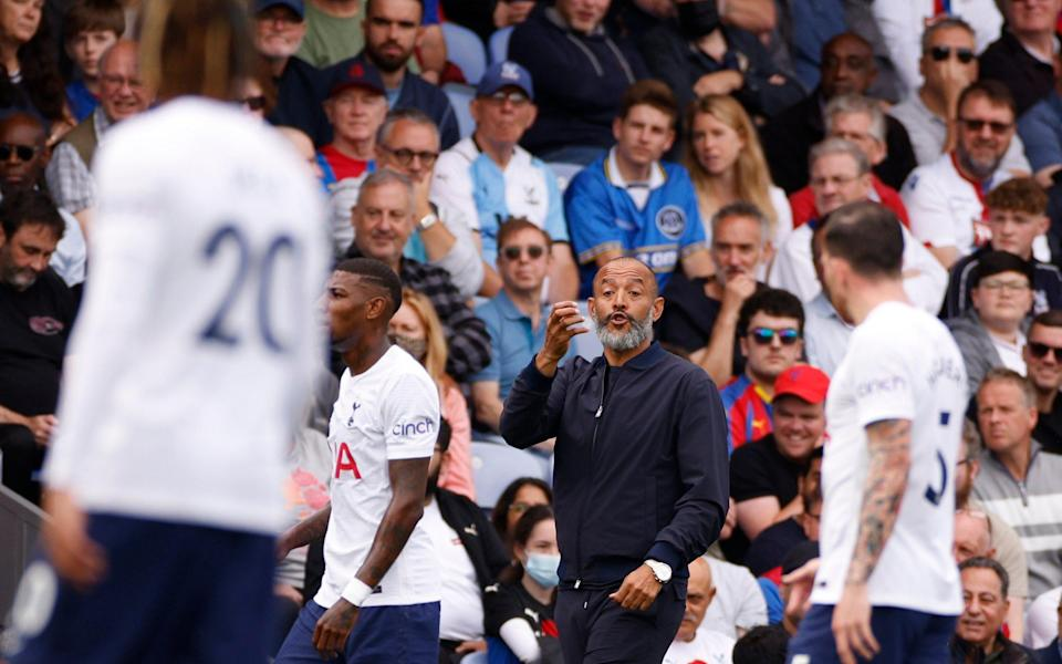 Everton fan in crowd at Palace - ACTION IMAGES
