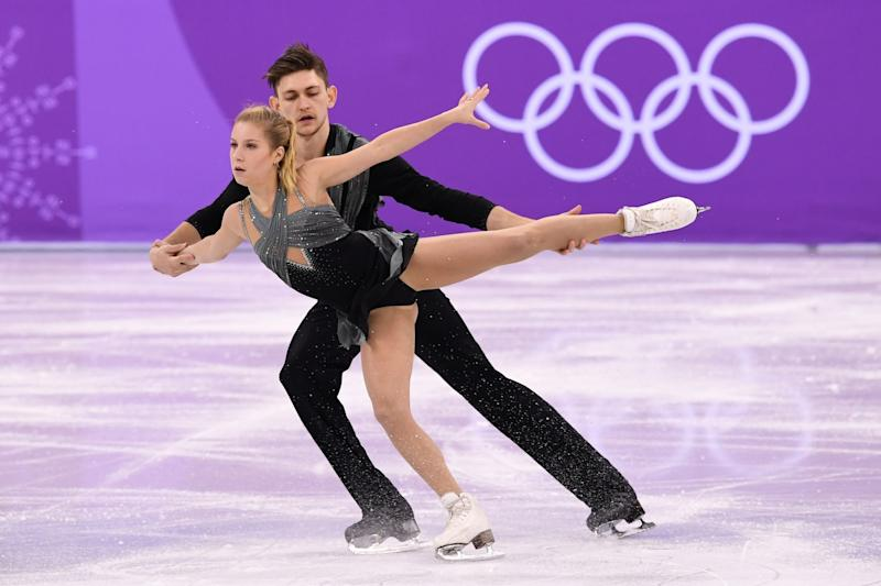 Ekaterina Alexandrovskaya is pictured with her pairs partner Harley Windsor at the 2018 Winter Olympics, where they represented Australia.  (Photo: JUNG YEON-JE via Getty Images)