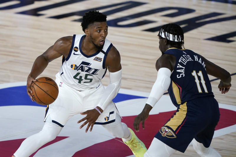 Donovan Mitchell clearly understood what an athlete protest movement is.  (Ashley Landis Pool / Getty Images)