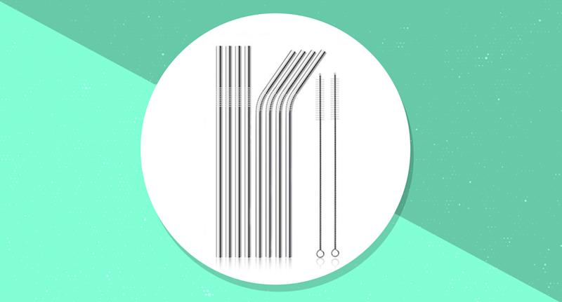 Ditch plastic and go eco-friendly with these durable stainless steel straws, on sale for a limited time. (Photo: Yahoo Lifestyle Store)