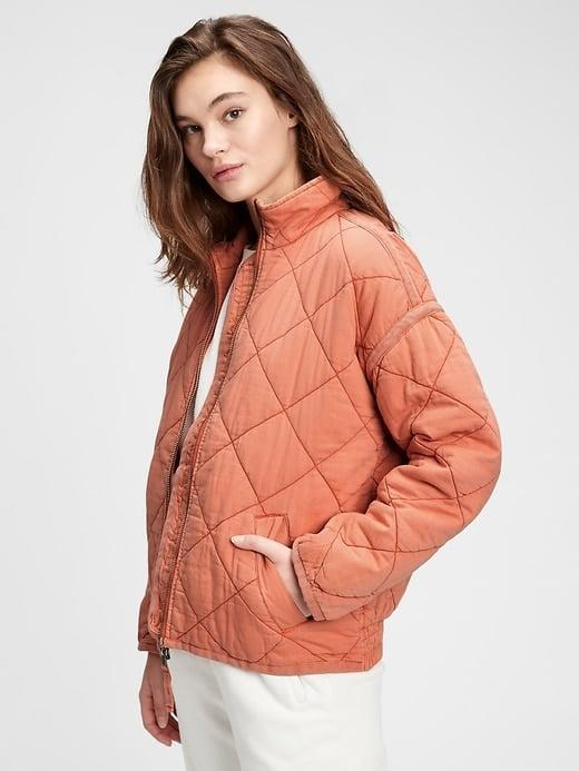 <p>Pick this <span>Gap Quilted Jacket</span> ($68-$128, originally $128) to make a soft switch of your standard puffy coat.</p>