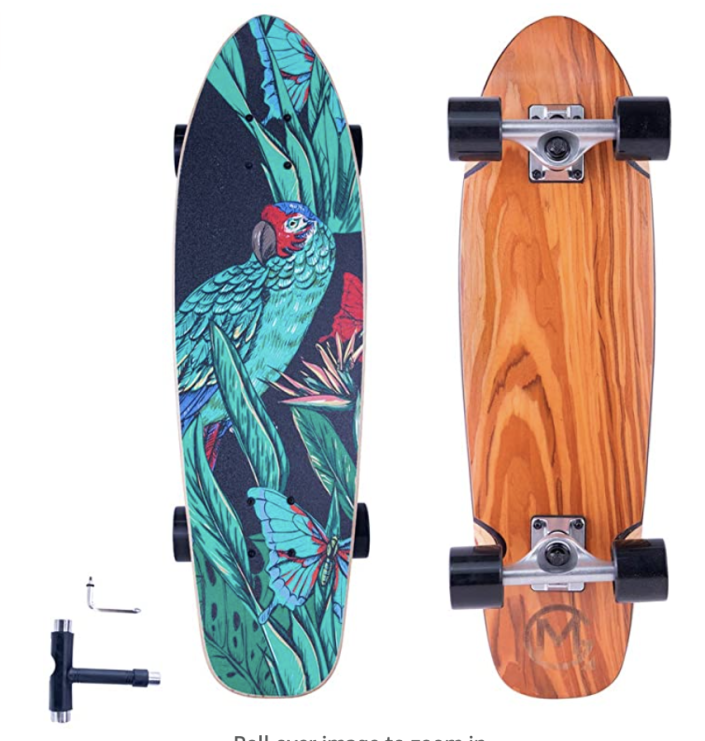 PHOTO: Amazon. 27-inch Cruiser Skateboard Complete for Beginners