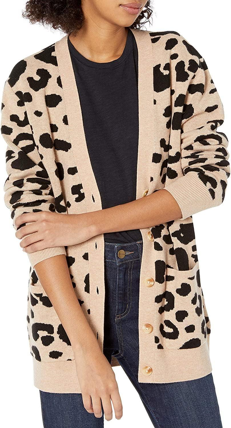 <p>Leopard-print lovers need this <span>Daily Ritual Ultra-Soft Jacquard Cardigan Sweater</span> ($40).</p>