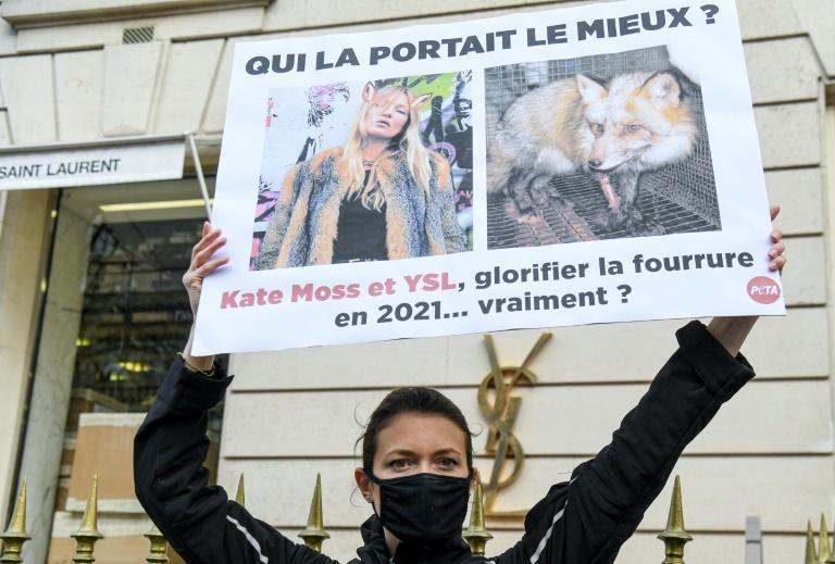 Animal rights activists targeted Saint Laurent this year (AFP/ALAIN JOCARD)