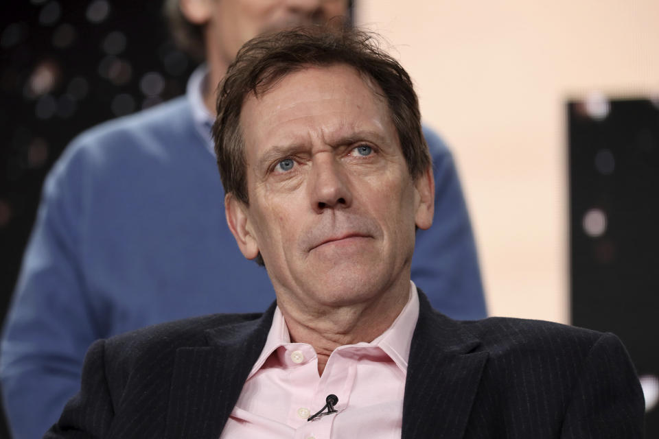 Hugh Laurie speaks at the