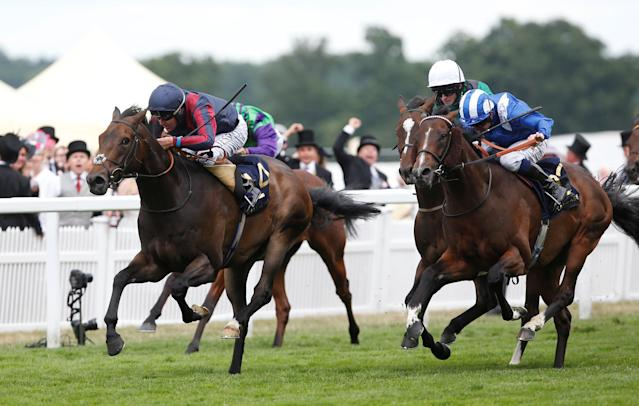 Horse Racing - Royal Ascot - Ascot Racecourse, Ascot, Britain - June 24, 2017 The Tin Man ridden by Tom Queally wins the 16:20 Diamond Jubilee Stakes Action Images via Reuters/Matthew Childs