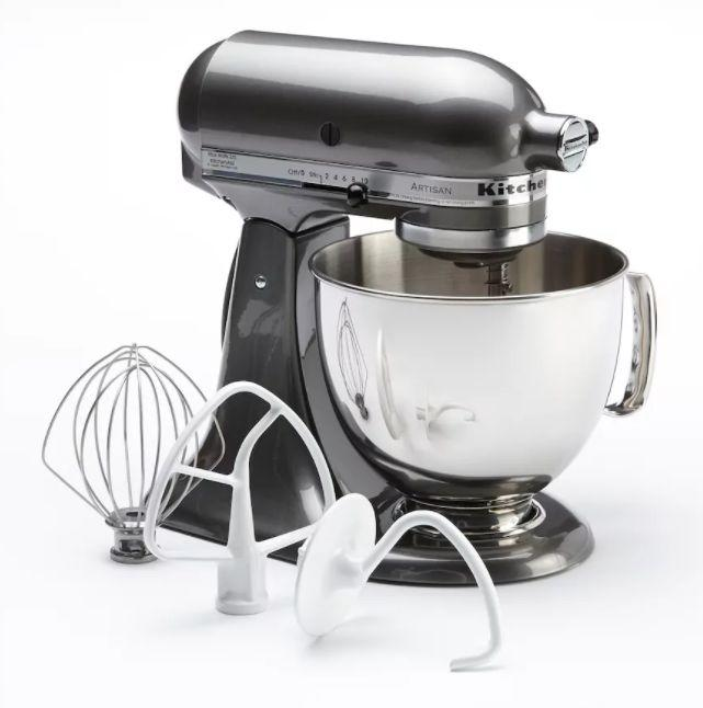 "Get $75 Kohl's Cash when you buy. <br />Regularly: $379.99<br /><strong><a href=""https://www.kohls.com/product/prd-25941/kitchenaid-ksm150ps-artisan-5-qt-stand-mixer.jsp"" target=""_blank"">Black Friday: $279.99</a> (after $60.00 mail-in rebate)</strong><br />(Savings: $100)"