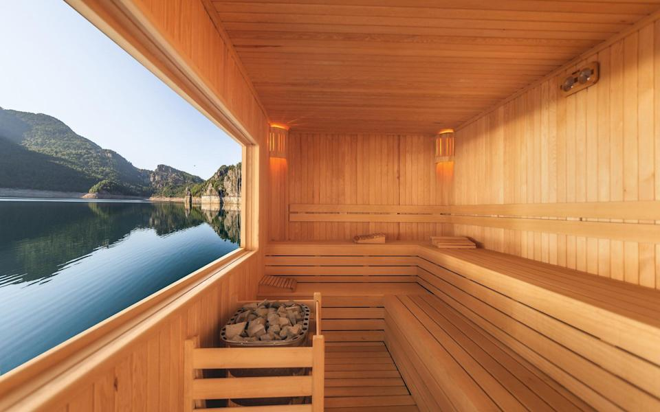 Saunas and steam rooms will reopen on May 17 - Getty