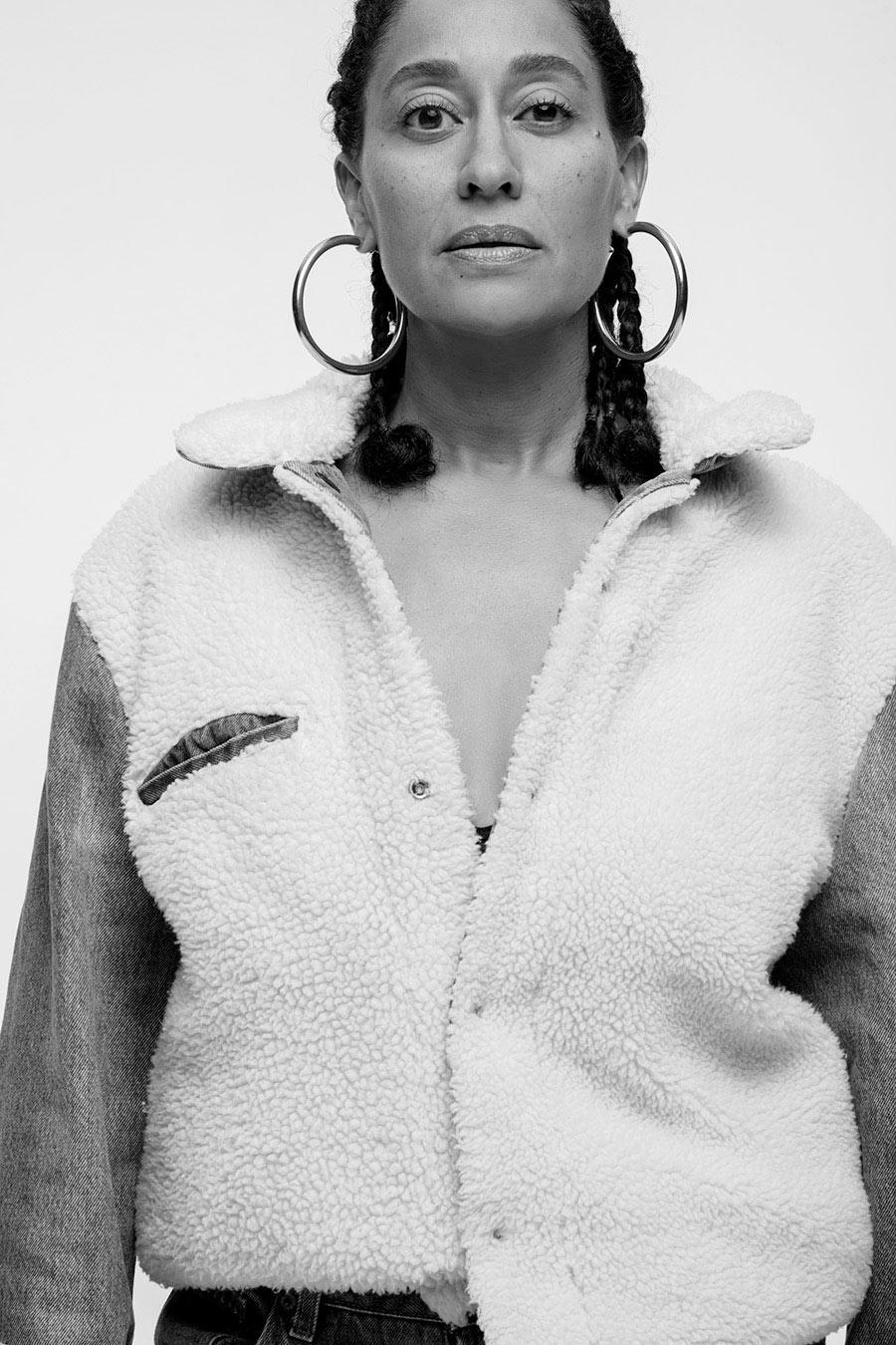 <p>Tracee Ellis Ross wears the Levi's x karla Inside-Out Sherpa. (Photo: Courtesy of Levi's) </p>